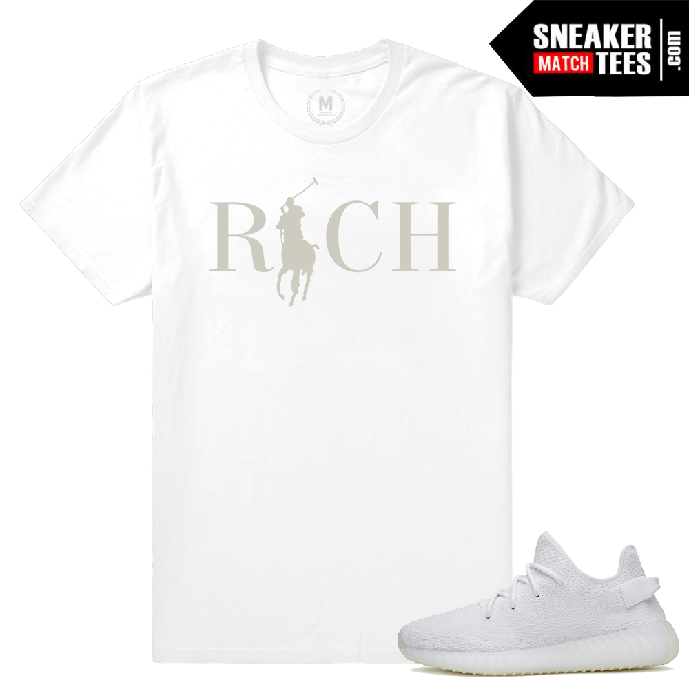 Yeezy Boost White t shirt Match