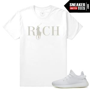 Yeezy Boost White t shirt Match