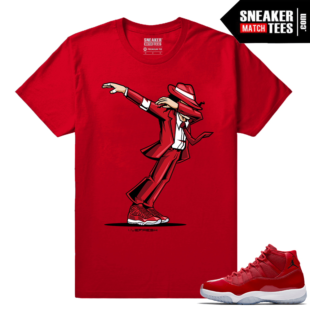 Jordan 11 Win Like 96 Gym Red Sneaker tees Dabbin MJ