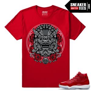 Jordan 11 Win Like 96 Gym Red Sneaker tees Red Imperial Lion