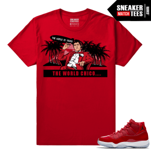 Jordan 11 Win Like 96 Gym Red Sneaker tees Red The World Chico