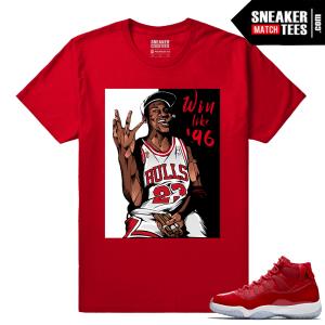 Jordan 11 Win Like 96 Gym Red Sneaker tees Red Win Like 96