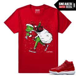 Jordan 11 Win Like 96 Gym Red Sneaker tees Sneakerhead Grinch