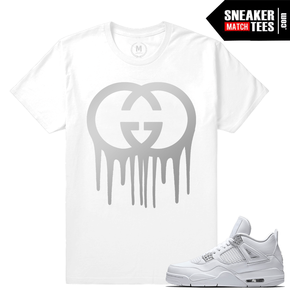 Jordan Retro 4 Pure Money T shirts
