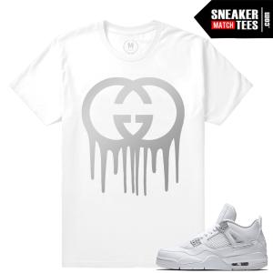 Jordan Retro 4 Pure Money T shirts