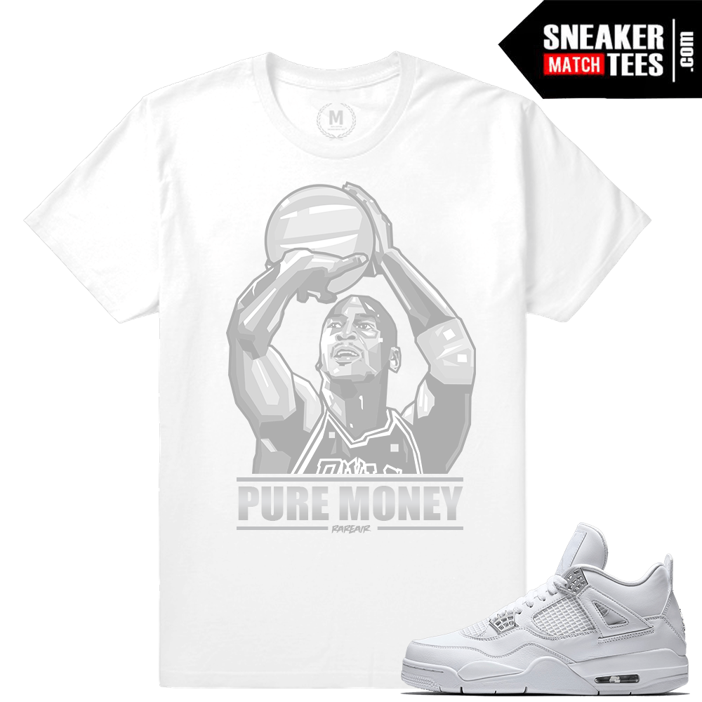 Pure Money 4s Sneaker tees Match