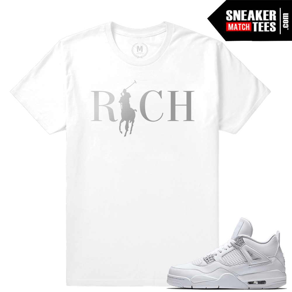 Sneaker Tees Shirt Jordan 4 Pure Money