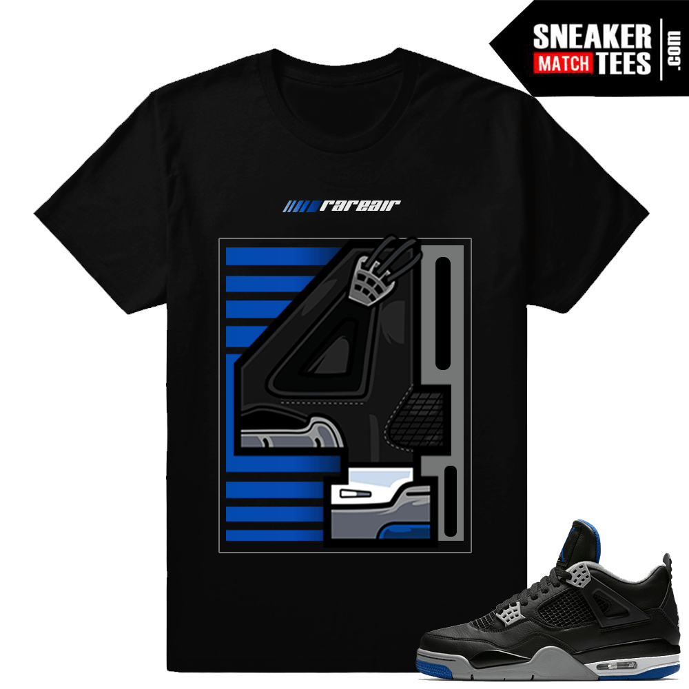 98cebb0dabe5 Air Jordan 4 Motorsport Matching Rare Air 4 tee. Motorsport Alternate 4s