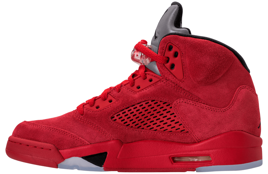 info for e0dbf 304e3 Jordan 5 Red Suede Inside side view