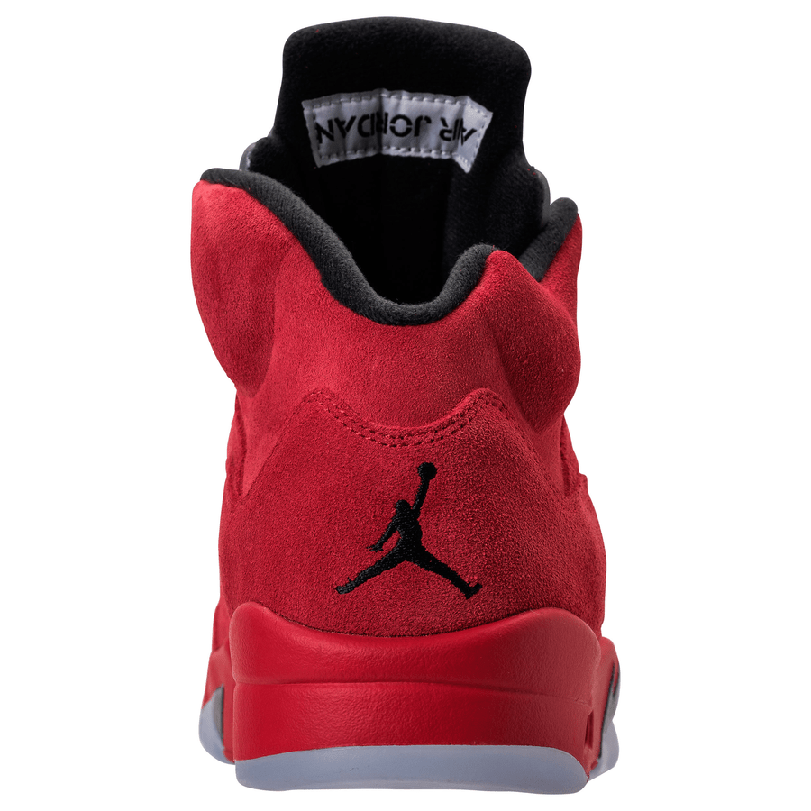 san francisco d64d7 8c5a4 Jordan 5 Red Suede Back View