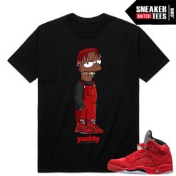 Air Jordan 5 Red Suede sneaker match tees shirt