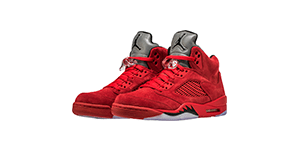 Red Suede 5s