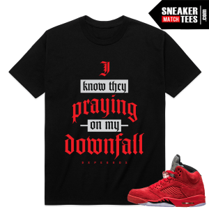 Air Jordan 5 shirts Match Red Suede 5s
