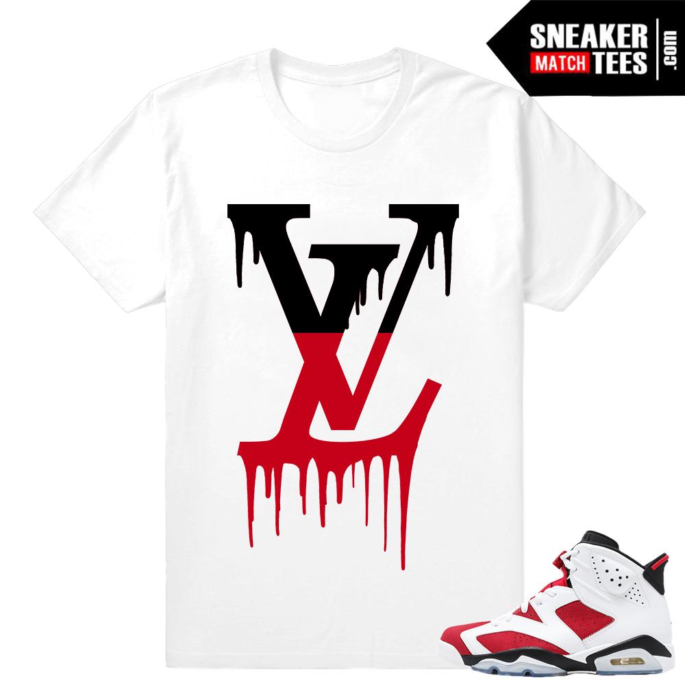 0b418a4d7 Carmine 6s Air Jordan White Carmine Black Shoes   Sneaker tees