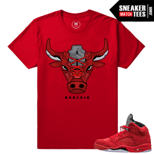Jordan 5 shirt matching Red Jordan 5s