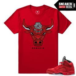 Jordan 5 shirt matching Red Jordan 5s