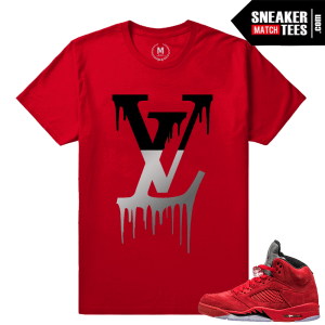 Jordan 5 shirts match Jordan Retro 5 Red