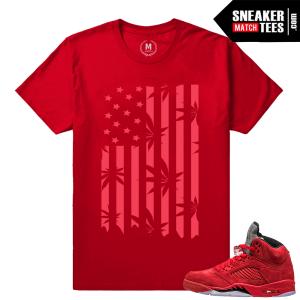 Air Jordans 5 sneaker t shirt Red