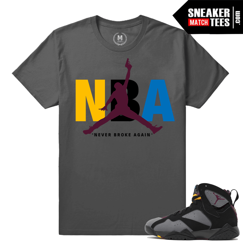cb7eb9235c76 Jordan 7 Bordeaux Match Sneaker Shirt - Sneakermatchtees.com