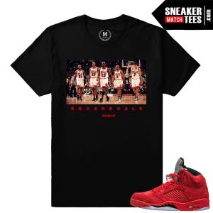 Jordan Retros 5 sneaker tee shirt