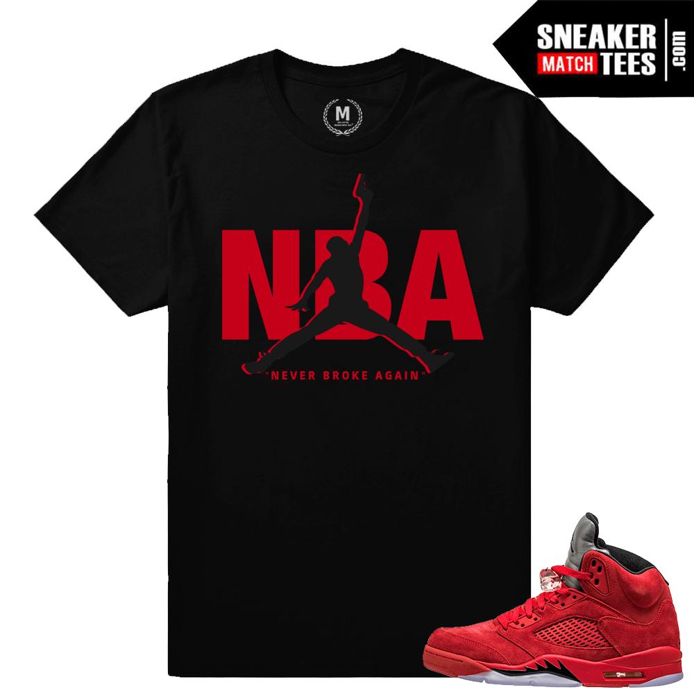 406606051926c9 Jordan retro 5 t shirts – Never Broke Again – Black