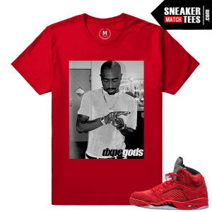 Retros Jordan 5 sneaker t shirt Red
