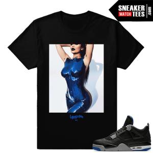 Kylie Jenner body Paint tee to match Jordan 4
