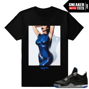 Kylie Jenner body Paint tee to match Jordan 4