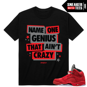 Red Suede 5 Retro sneaker tees