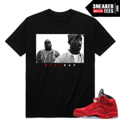 Red Suede 5s sneaker match tees shirt