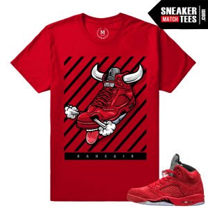 Shirts to match Jordans Red Suede 5s