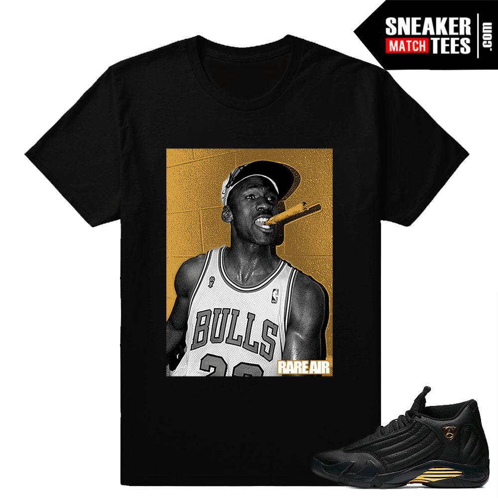 Tshirts to match Jordan 14 DMP Pack