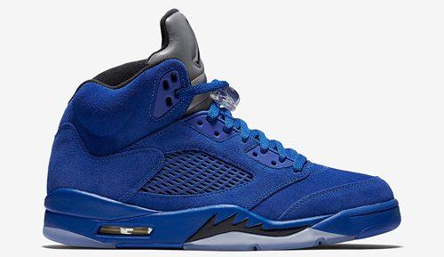 3b442335215e95 Jordan Release Date 2017 - Air Jordan 5 Blue Suede