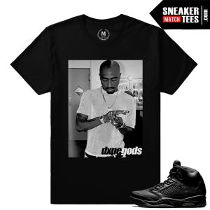Jordans 5 sneaker tee shirt Pinnacle Black