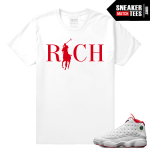 Retro 13 sneaker match History of Flight t shirt