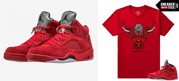 35e784f35c7435 Jordan 5 Red Suede – More Favorites from this collection. Jordan 5 sneaker  tees match