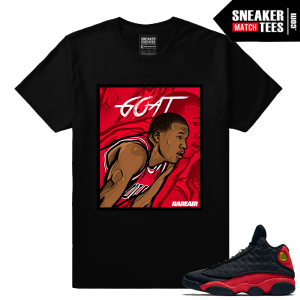 Air Jordan 13 Bred matching Goat Jordan T shirt