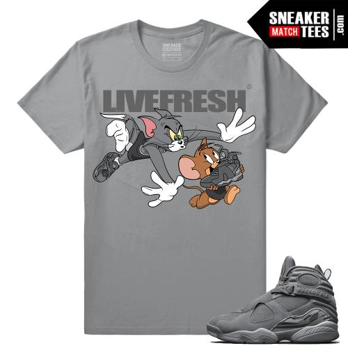 Air Jordan 8 Cool Grey Sneaker tees