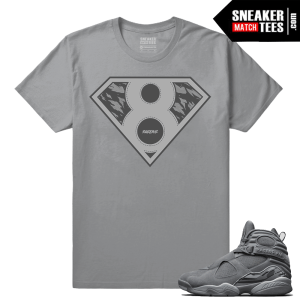 Air jordan Retro Cool Grey 8s matching tee shirt