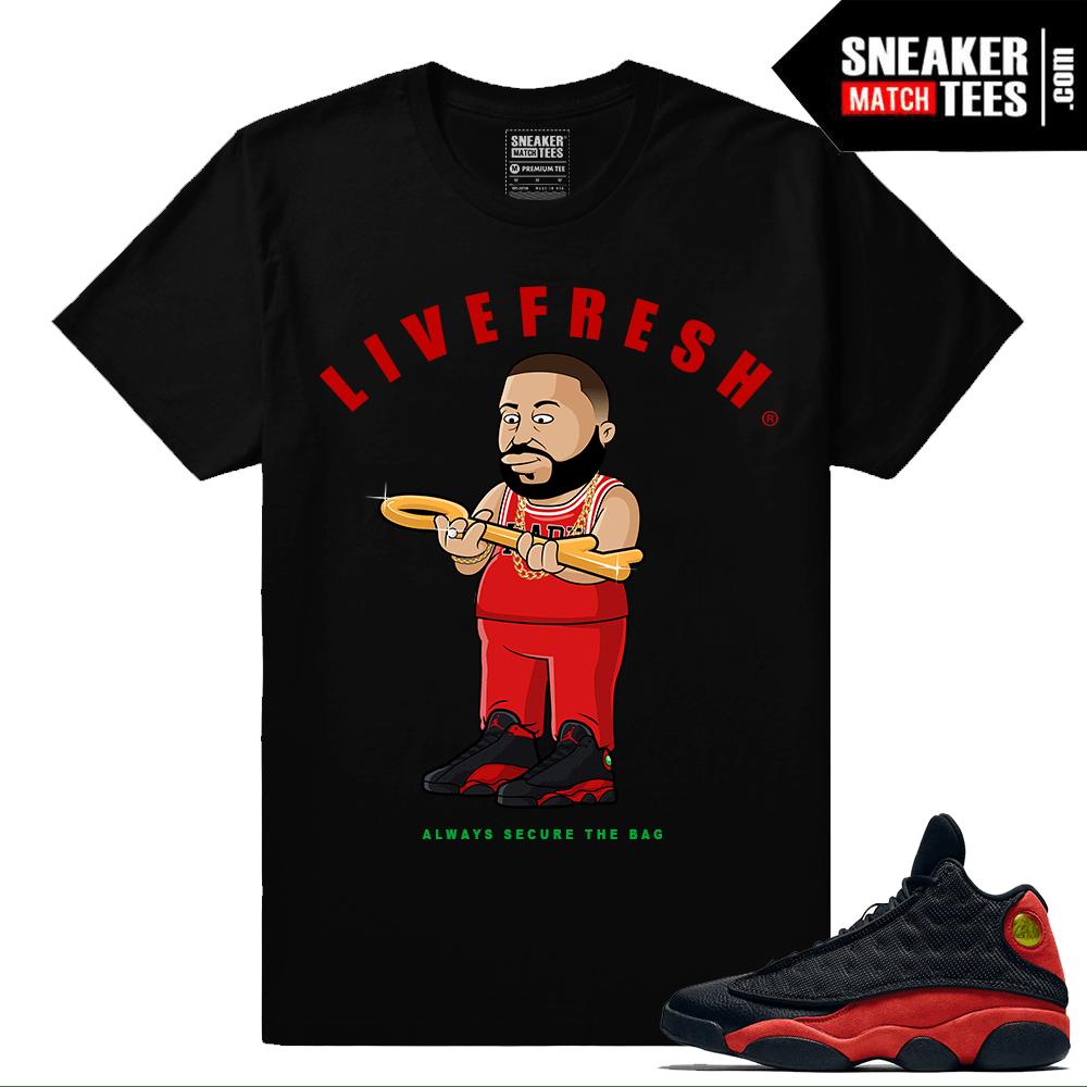 timeless design 8dcac d651c Bred 13 Jordans shirts to match streetwear ...
