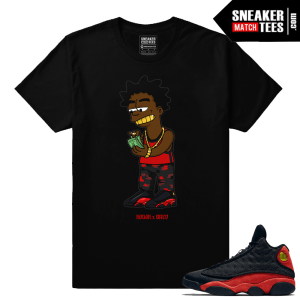 Bred 13s shirt to match Streetwear Clothing