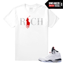 Cement Jordan 5 Sneaker tees