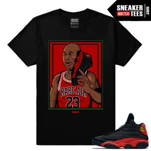 Jordan 13 Bred Sneaker Matching MJ Bred Calling T shirt