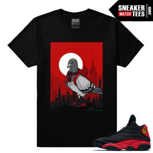 Jordan 13s Bred Live Fresh Pigeon Streetwear t shirt