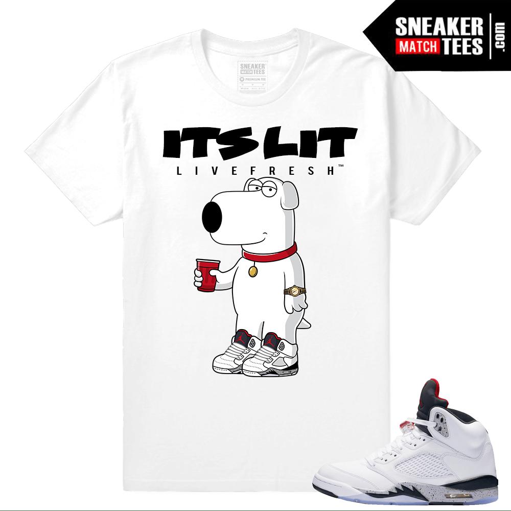 b8db1eacec6a4c Jordan 5 Cement Sneaker shirts to match- Sneakermatchtees.com