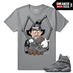 Jordan 8 Retro Cool Grey t shirts to match