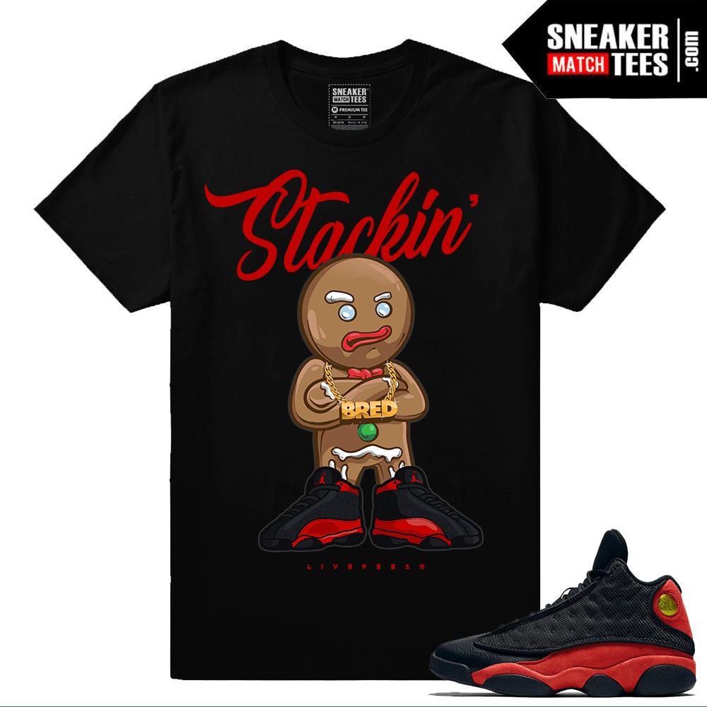 5d7a3caa0dea Jordan Retro 13 Bred Matching Tee shirt streetwear sneaker tees