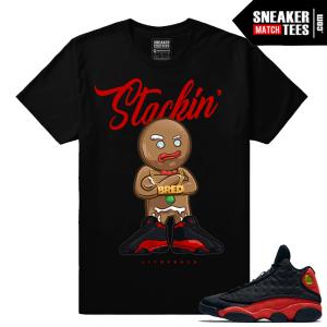 Jordan Retro 13 Bred Matching Tee shirt streetwear sneaker tees