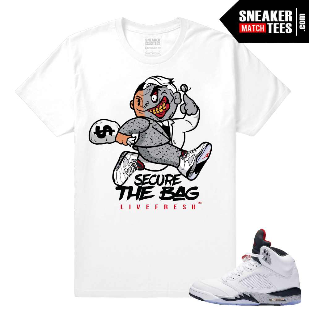 Jordan Retro 5 Cement T shirt