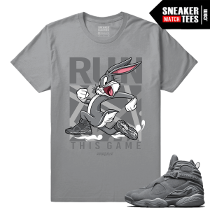 Jordan Retro 8 Cool Grey Matching Shirt